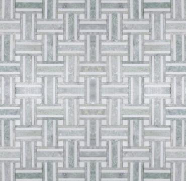 Manhattan Ming Green & Thassos Polished Bacon Mosaic (MB102) (