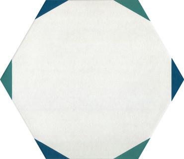 Bee Hive Medley Sun Green/Blue Porcelain Hex 8.5x10 (P044810HXSNDC1P)