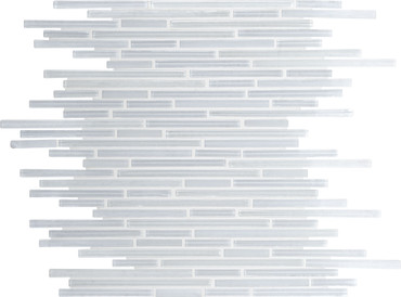 Caprice White Ice Glass Linear Mosaic (F167516MS1P)