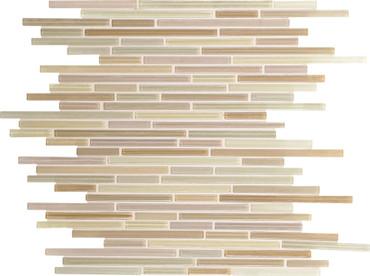 Caprice Vanilla Blend Glass Linear Mosaic (F170516MS1P)