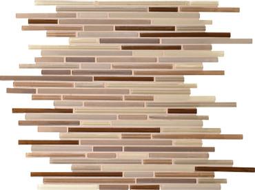 Caprice Mink Blend Glass Linear Mosaic (F171516MS1P)