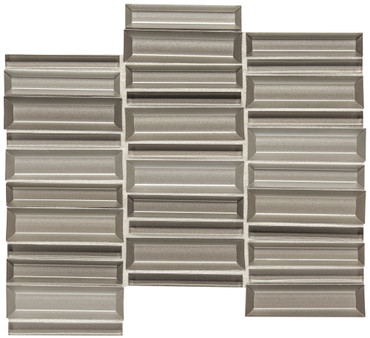 Cascading Waters Silver Surge Glass Random Straight Stacked Mosaic (CW4114MS1P)