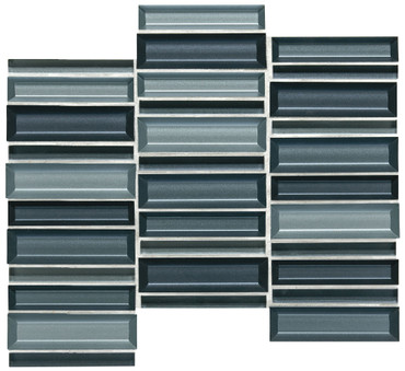 Cascading Waters Cerulean Swell Glass Random Straight Stacked Mosaic (CW4514MS1P)