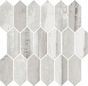 Cinematic Romantic White Picket Mosaic (CM4025PICKMS1P2)