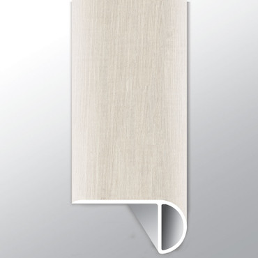 """Andover Whitby White Low Gloss 94"""" Overlapping Stairnose (VTTWHIWHI-OSN)"""