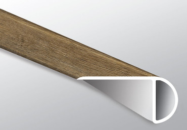 "Ashton Maracay Brown Low Gloss 94"" Overlapping Stairnose (VTTRECOAK-OSN"