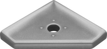 "Geo Retrofit Brushed Nickel Matte Corner Soap Dish 5"" (SBA184024)"