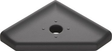 "Geo Lugged GraphiteMatte Corner Soap Dish 5"" (MBA194086)"
