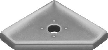"Geo Lugged Brushed Nickel Matte Corner Soap Dish 5"" (MBA194-024)"