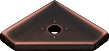 "Geo Lugged Dark Oil-Rubbed Bronze Matte Corner Soap Dish 5"" (MBA194-070)"