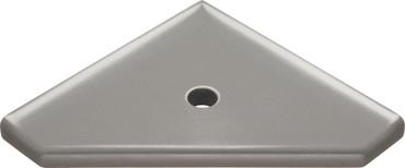 "Geo Lugged Brushed Nickel Matte Corner Shelf 8"" (MBA193-024)"