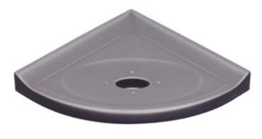 """Metro Lugged Brushed Nickel Matte Corner Soap Dish 5"""" (SBA112024)"""