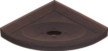 """Metro Lugged Dark Oil-Rubbed Bronze Matte Corner Soap Dish 5"""" (SBA112070)"""
