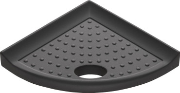 """Metro Lugged Graphite Matte Foot Rest 5"""" (MBA120086)"""