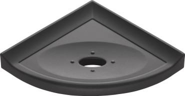 "Metro Retrofit GraphiteMatte Corner Soap Dish 5"" (MBA157086)"
