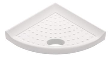 "Metro Retrofit White Polished Foot Rest 5"" (SBA15913)"