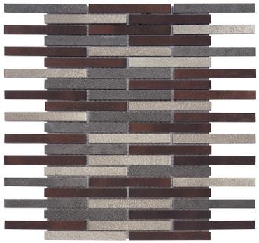 Vista Dark Oil-Rubbed Bronze Linear Mosaic (MOSA300007)