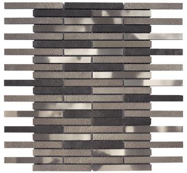Vista Brushed Nickel Linear Mosaic (MOSA300008)