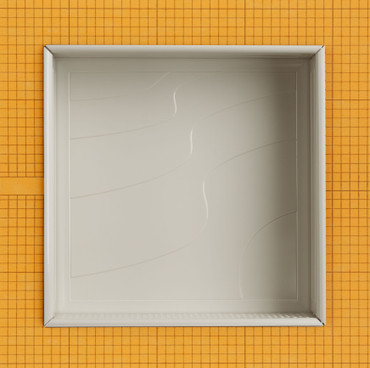 Waves Polished Gray 12x12 Niche (SNCH75321)