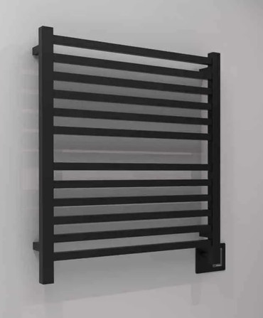 Quadro Q 2833 Matte Black Heated Towel Rack 32.25 x 35.375 (Q2833MB)