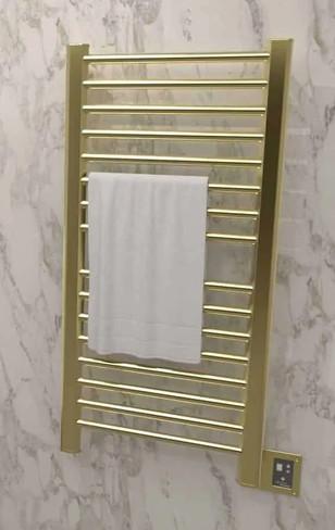 Sirio S-2142 Satin Brass Heated Towel Rack 24.625 x 44.625 (S2142SB)