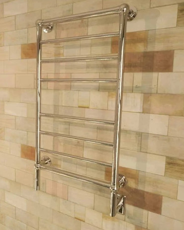 Traditional T-2040 Polished Nickel Heated Towel Rack 21 x 43.25 (T2040PN)
