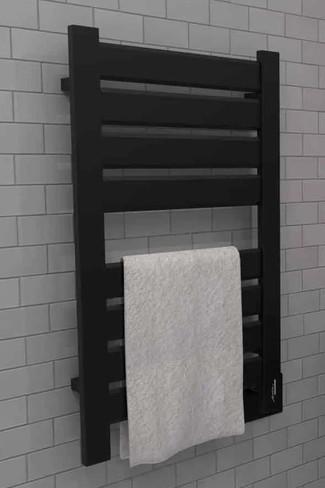 Vega V2338 Matte Black Heated Towel Rack 26.25 x 39.125 (V2338MB)