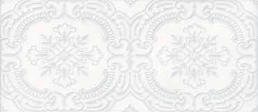 Maiolica Chantilly Tulle White Deco 4x10 (CHAW081-TLL)