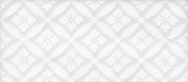 Maiolica Chantilly Arabella White Deco 4x10 (CHAW081-ARB)