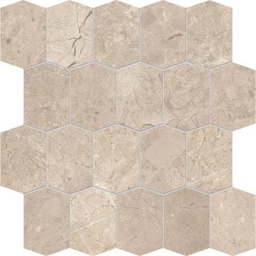 Velvet Almond Matte Porcelain Elongated Hex Mosaic 12x12 Sheet (NB01)