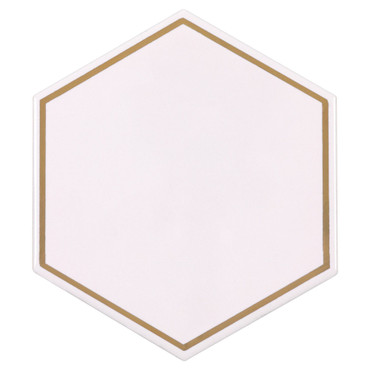 On The Edge Rose Gold Ceramic 6 in. Hexagon (ANTHOERGH)