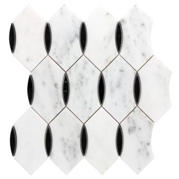 Panache Skye Noir Mosaic 12x13 Sheet (ANTHPASN)