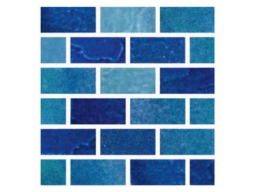 Melange Blend Porcelain 1x2 Mosaic (MELABLEND12MOS)