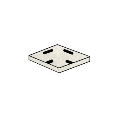 Tivoli Stone Beige Crosscut Grip Drain Corner 8x8 (2 PCS) (SGTI01DC)