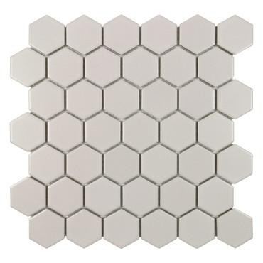 "Porcelart Taupe Matte 2"" Hex Mosaic (SF210001)"