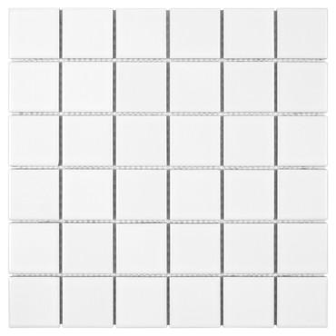 Porcelart White Matte Mosaic 2x2 (SF200074)