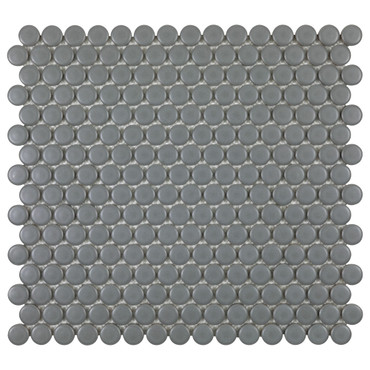 Porcelart Grey Matte 3/4 in. Penny Round Mosaic (SF200078)