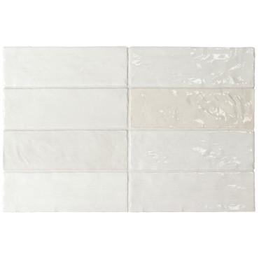 La Riviera Blanc Glossy Ceramic 2.5x8