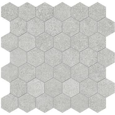 Mjork Ash Matte Porcelain 2 in. Hex Mosaic (4501-0379-0)