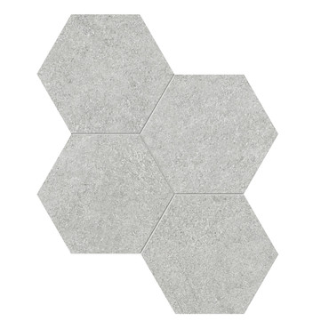 Mjork Ash Matte Porcelain 6 in. Hex Mosaic (4501-0375-0)