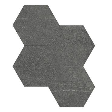 Mjork Carbon Matte Porcelain 6 in. Hex Mosaic (4501-0378-0)