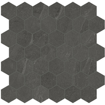 Nord Carbon Matte Porcelain 2 in. Hex Mosaic (4501-0394-0)