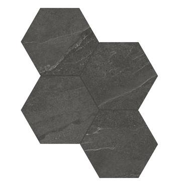Nord Carbon Matte Porcelain 6 in. Hex Mosaic (4501-0390-0)