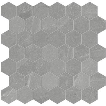 Nord Palladium Matte Porcelain 2 in. Hex Mosaic (4501-0392-0)
