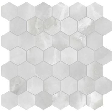 Plata Onyx Crystallo Matte Porcelain 2 in. Hexagon Mosaic (4501-0416-0)