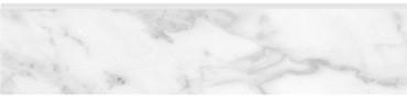 Plata Carrara Abisso Polished Porcelain Bullnose 3x12 (4502-0308-0)