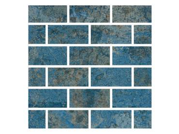 Lakes Shasta Porcelain Mosaic 1x2 (AB9LAKESHAS12MOS)