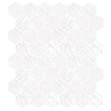 Marbles Volakas Silk Polished Hexagon Mosaic on 9x11 Sheet (1102374)