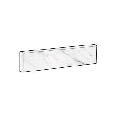 Marbles Carrara White Matte Bullnose 3x12 (1102348)
