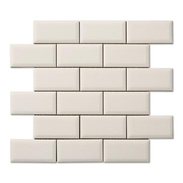 Hampton White Beveled Mosaic 2X4 (ADXADHWH924)